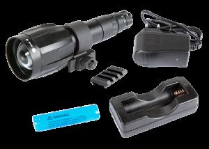 Armasight by Flir Spark Zubehör IR850  abnehmbare LED Extra Long Range Infrarot Illuminator w / Dovetail to Weaver Transferstück # 21